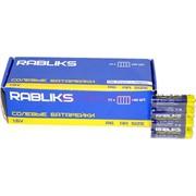 Батарейки АА солевые Rabliks 60 шт/уп