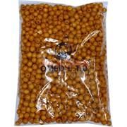 Бусины деревянные 10 мм «темный желто-оранжевый» 500 гр