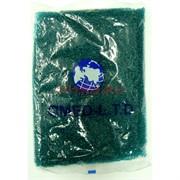 Бисер №12 (1,9 мм) зеленый №3B 450 грамм