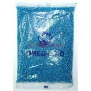 Бисер №6 (3,6 мм) голубой прозрачный №23B 450 грамм