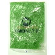 Бисер №6 (3,6 мм) салатовый перламутр №104 450 грамм