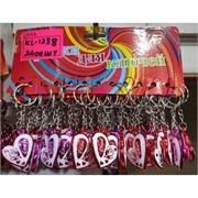 Брелок (KL-1228) сердце Love пластмасса 120 шт/уп