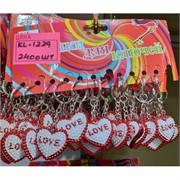 Брелок (KL-1229) сердце Love пластмасса 120 шт/уп