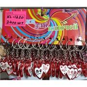Брелок (KL-1230) сердце Love пластмасса 120 шт/уп