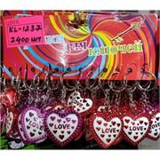 Брелок (KL-1237) сердце Love пластмасса 120 шт/уп
