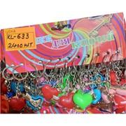 Брелок (KL-633) сердце Love со стрелой пластмасса 120 шт/уп