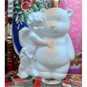 Ангелочек с мишкой (гипс) 13,5 см