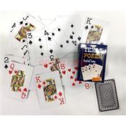 Карты игральные 54 карты Texas Poker Hold'em 12 шт/уп 144 шт/кор (100% пластик)
