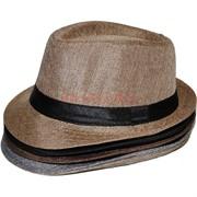 Шляпа льняная 5-6 цветов
