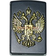 Зажигалка газовая «герб России» турбо слайдер