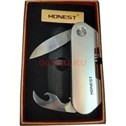 Зажигалка USB Honest с ножом и открывашкой спиральная