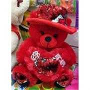 Медведь сердце в шляпе 12 шт/уп мягкая игрушка