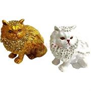 Шкатулка со стразами «котик» 2 цвета