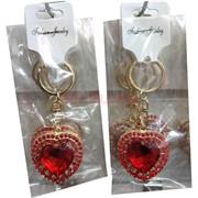 Брелок «сердце» со стразамии (HR-D7-23)