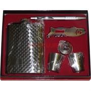 Набор подарочный (D-1719) с флягой 8 унций + нож и ручка + 2 стаканчика