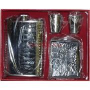Набор подарочный (D11-3) с флягой 9 унций + портсигар + 2 стаканчика