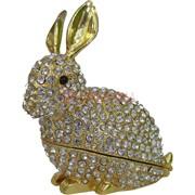Шкатулка со стразами (5027) «Кролик»