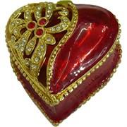 Шкатулка со стразами (925) «Сердце»