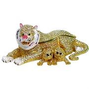 Шкатулка со стразами (4866) «Львица с львятами»