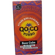 Уголь для кальяна QOCO Turbo 96 шт 1 кг 22 мм Boss Cube