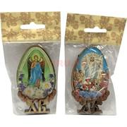 Магнит деревянный ХВ «яйцо икона Иисус»