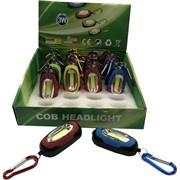 Брелок-фонарик с карабином COB Headlight светодиодный 24 шт/уп