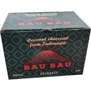 Кокосовый уголь для кальяна Bau Bau 96 кубиков 22x22 мм 1 кг