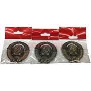 Магнит Герб СССР 3 цвета металлический