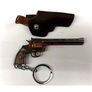 Брелок револьвер металлический