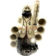 Бутылка керамическая «Доктор» + 3 рюмок