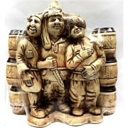 Бутылка керамическая «Кавказкая пленница» + 6 рюмок