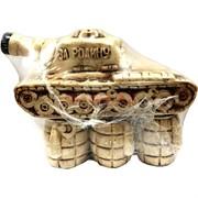 Бутылка керамическая «Танк» + 6 рюмок
