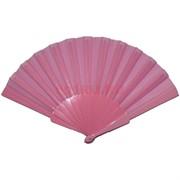 Веер розовый однотонный 12 шт/уп