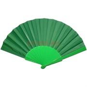 Веер зеленый однотонный 12 шт/уп