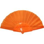 Веер оранжевый однотонный 12 шт/уп