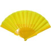 Веер желтый однотонный 12 шт/уп
