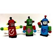 Игрушка деревянная «Робот танцующий» заводная