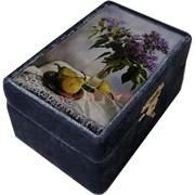 Шкатулка бархатная «сирень и груши»