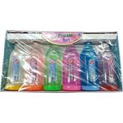 Лизун мялка в бутылках Rainbow Crystal Mud 6 шт/уп