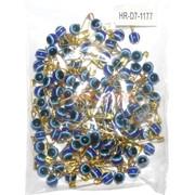 Булавка под золото со сглазом (1177) цвет синий 100 шт