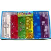 Лизун мялка Soft Slime с кусочками фруктов 6 шт/уп 420 гр