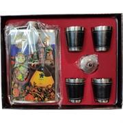 Набор подарочный Матрешка «фляга 9 унций + 4 стаканчика»