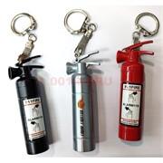 Зажигалка брелок USB спиральная «огнетушитель»
