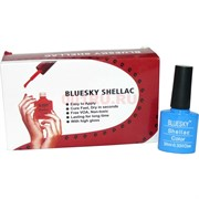 Bluesky Shellaс 10 мл (цвет 110) лиловый темный с блестками 8 шт/уп