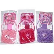 Набор для волос детский (KG-149A) с сумкой оптом 3 цвета 12 шт/уп