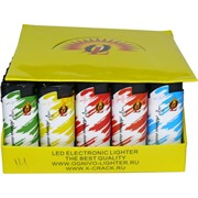 Зажигалка Ognivo Lighter «цветная» пьезо турбо 50 шт/уп