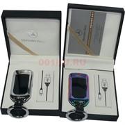 Зажигалка USB Mersedes-Benz двойная разрядная (брелок)