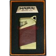 Зажигалка газовая Haipai «металл гладкая в коже 3 цвета»