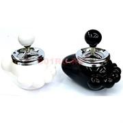 Пепельница керамическая «нога» 2 цвета (нажимная)