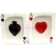 Пепельница «игральные карты» керамическая